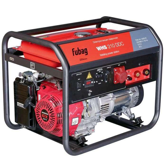 Генератор Fubag WHS 210 DDC, бенз., сварочный, 220/380В, 50-210А, 4.5 кВт