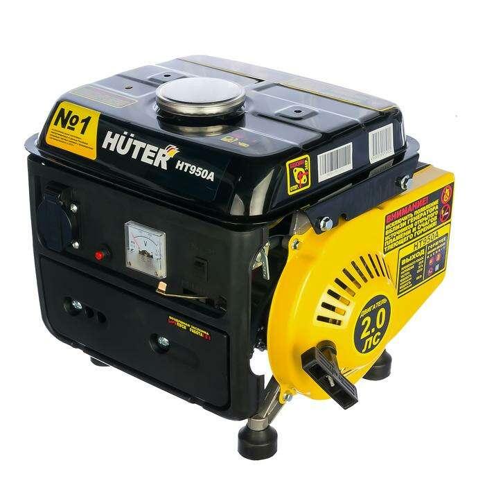Электрогенератор Huter HT950A, бенз., 0.65/0.95 кВт, 220 В, 4.2 л
