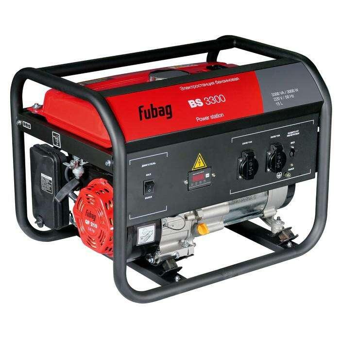 Генератор Fubag BS 3300, бенз., 3.3 кВт, бак 15 л, 2х220В/16А