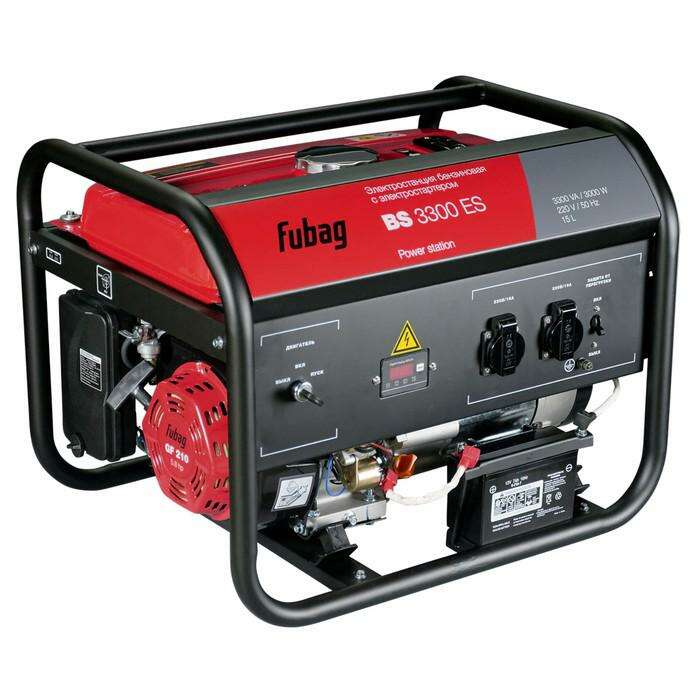 Генератор Fubag BS 3300 ES, бенз., 3.3 кВт, бак 15 л, 2х220В/16А, электростарт