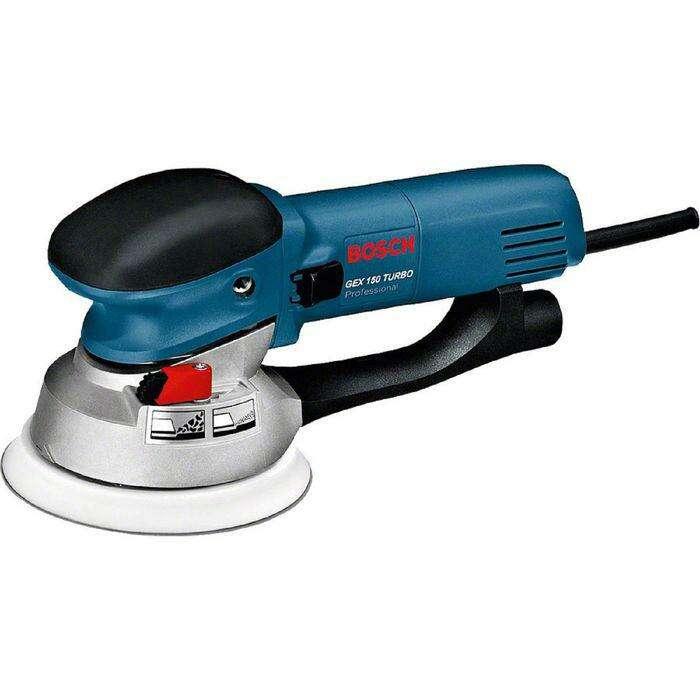 Эксцентриковая шлифмашина Bosch GEX 150 Turbo (0601250788), 600 Вт, 6650 об/мин, d=150 мм