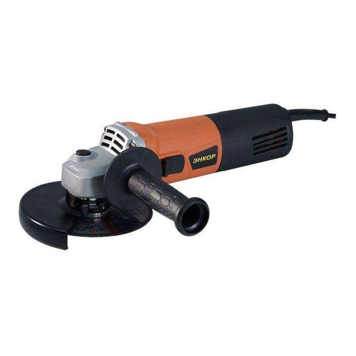 Углошлифовальная машина ЭНКОР 1100/125М, 1100Вт, 11000 об/мин, диск 125 мм