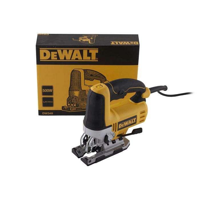 Лобзик DeWalt DW 349 B, 500Вт, 500-3200об/м, маятник, 10 пилок
