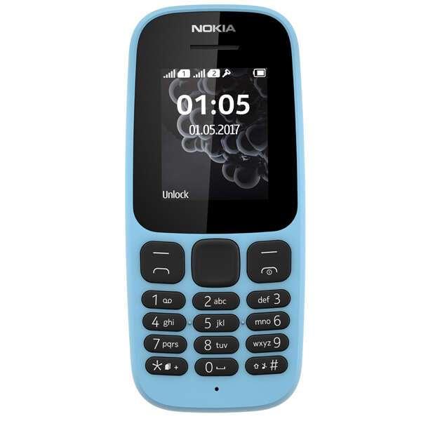 Мобильный телефон Nokia 105 2017 DS Blue