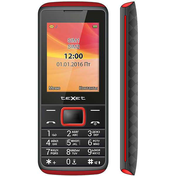 Мобильный телефон TeXet TM-214 (Black)