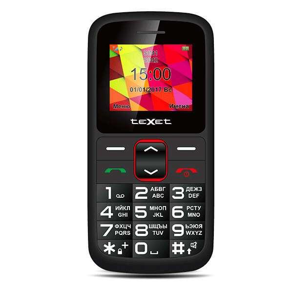 Мобильный телефон TeXet TM-B217 (red-black)