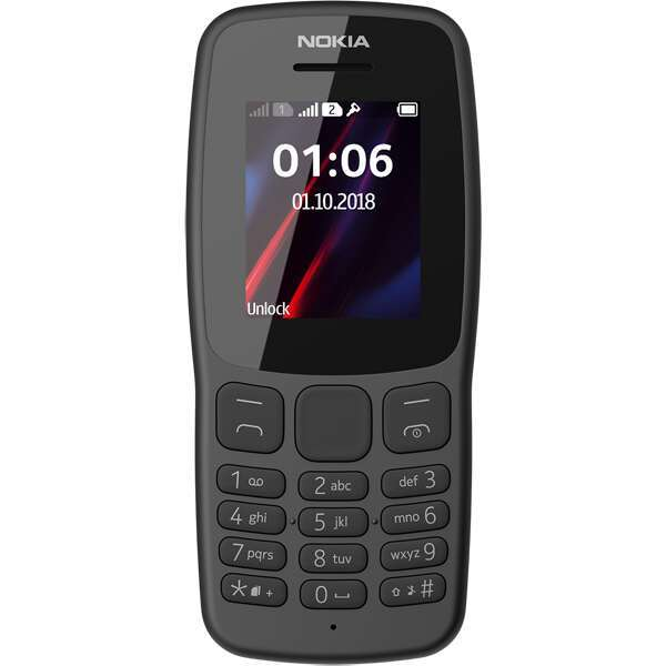 Телефон Nokia TA-1114 NOKIA 106 DS  EAC UA  GRAY
