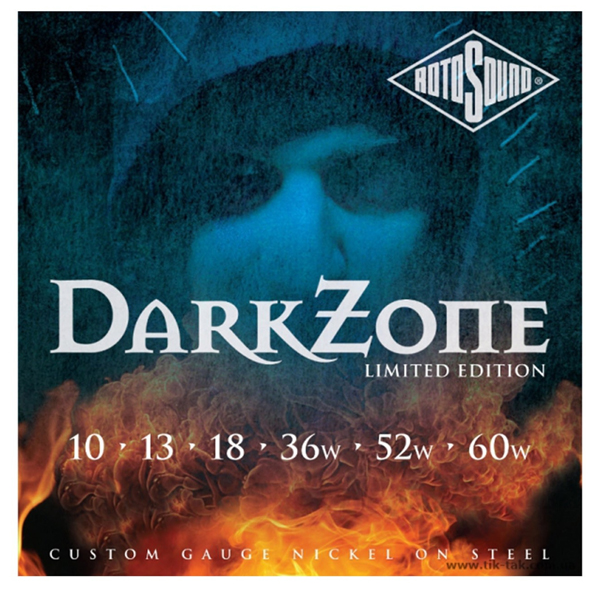 Струны для электрогитары Rotosound DarkZone 10