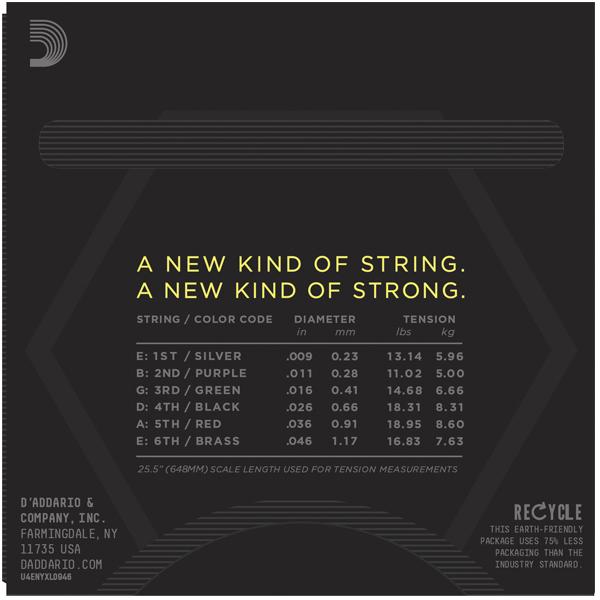 Струны для электрогитары D'Addario NYXL0946