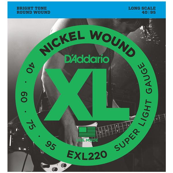 Струны для бас гитары D'Addario EXL220