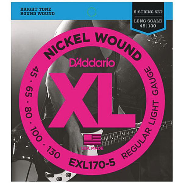 Струны для бас гитары D'Addario EXL170-5