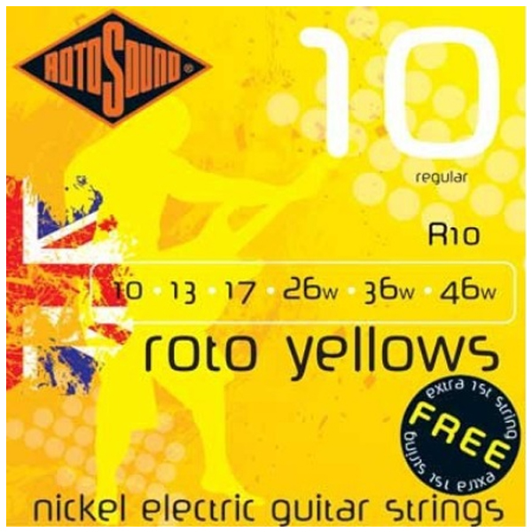 Струны для электрогитары Rotosound R10 Roto Yellow Set
