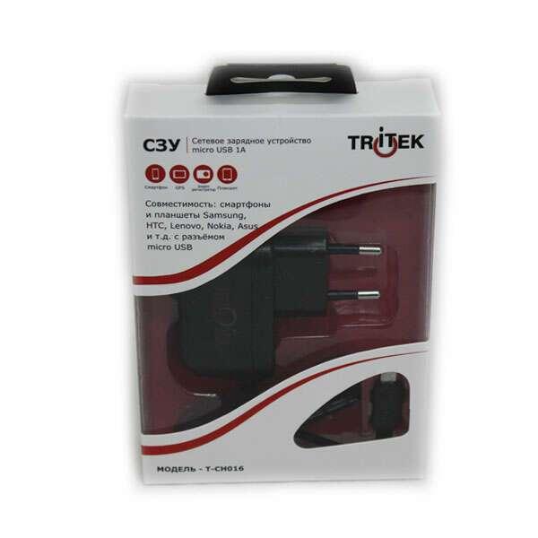 Сетевое зарядное устройство micro USB 1АTritek T-CH-016