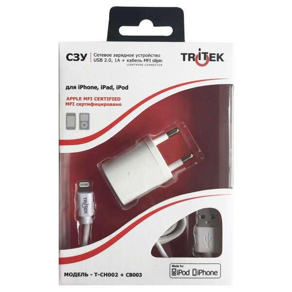 Сетевое зарядное устройство MFI Tritek для iPhone 5/5S/6/6S