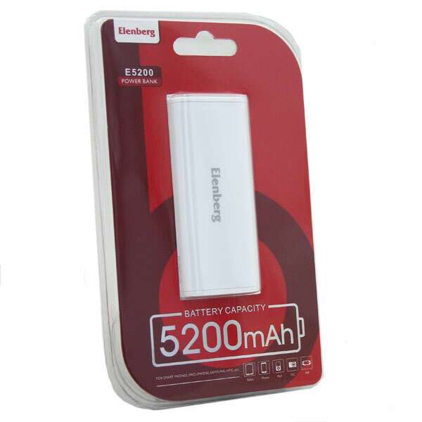 Power Bank Elenberg Simple 5200mAh YB6002 White
