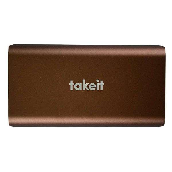 Внешний аккумулятор Takeit  Surface, Шоколадный