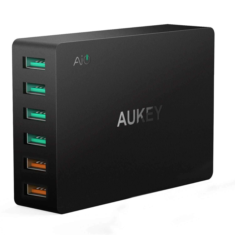 Сетевое зарядное устройство Aukey PA-T11 60W Black