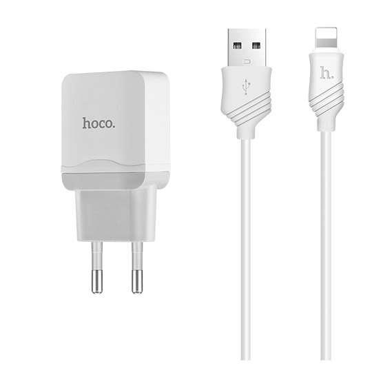 Сетевое зарядное устройство Hoco C22A little superior White