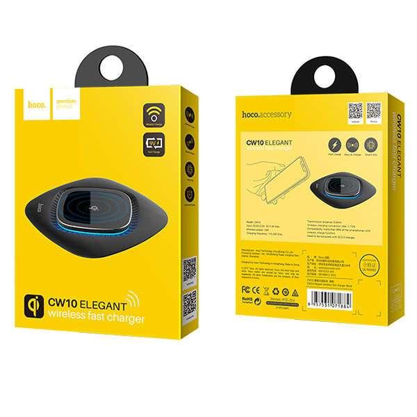 Беспроводное зарядное устройство Hoco CW10 Graceful (Black)