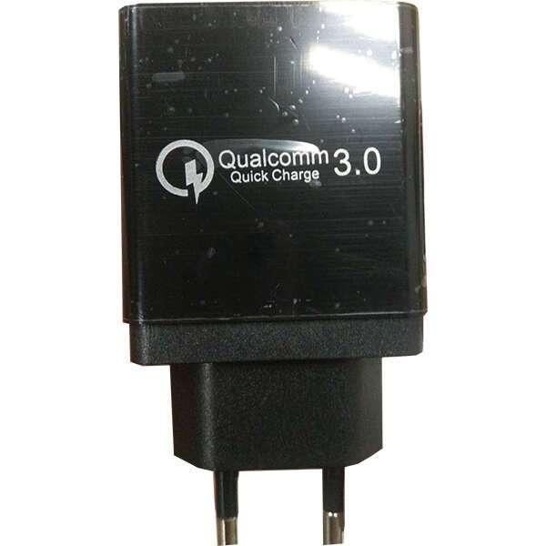 Сетевое зарядное устройство Rapid WC-03, QC 3.0, Black