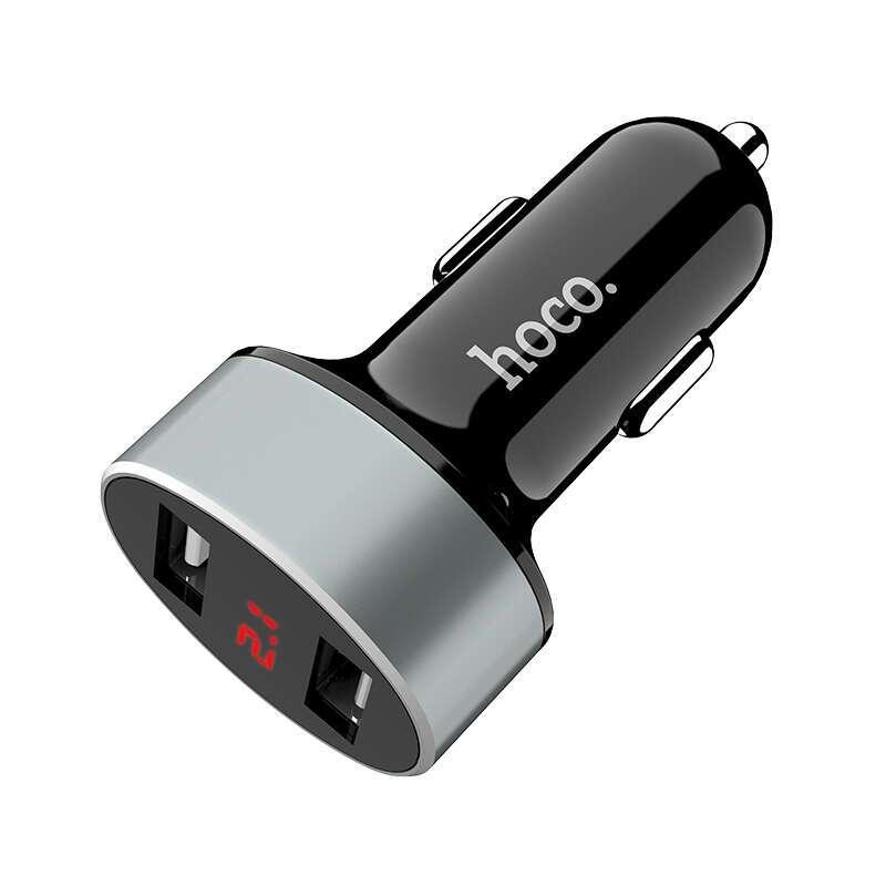 Автомобильное зарядное устройство HOCO Z26 с дисплеем