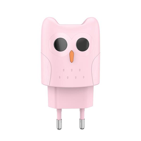 Зарядное устройство для смартфона Hoco Dual port charger KC1A EU Pink