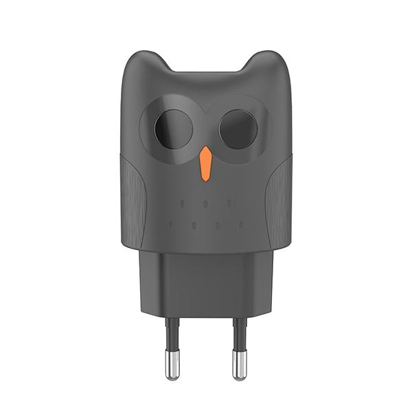 Зарядное устройство для смартфона Hoco Dual port charger KC1A EU Gray
