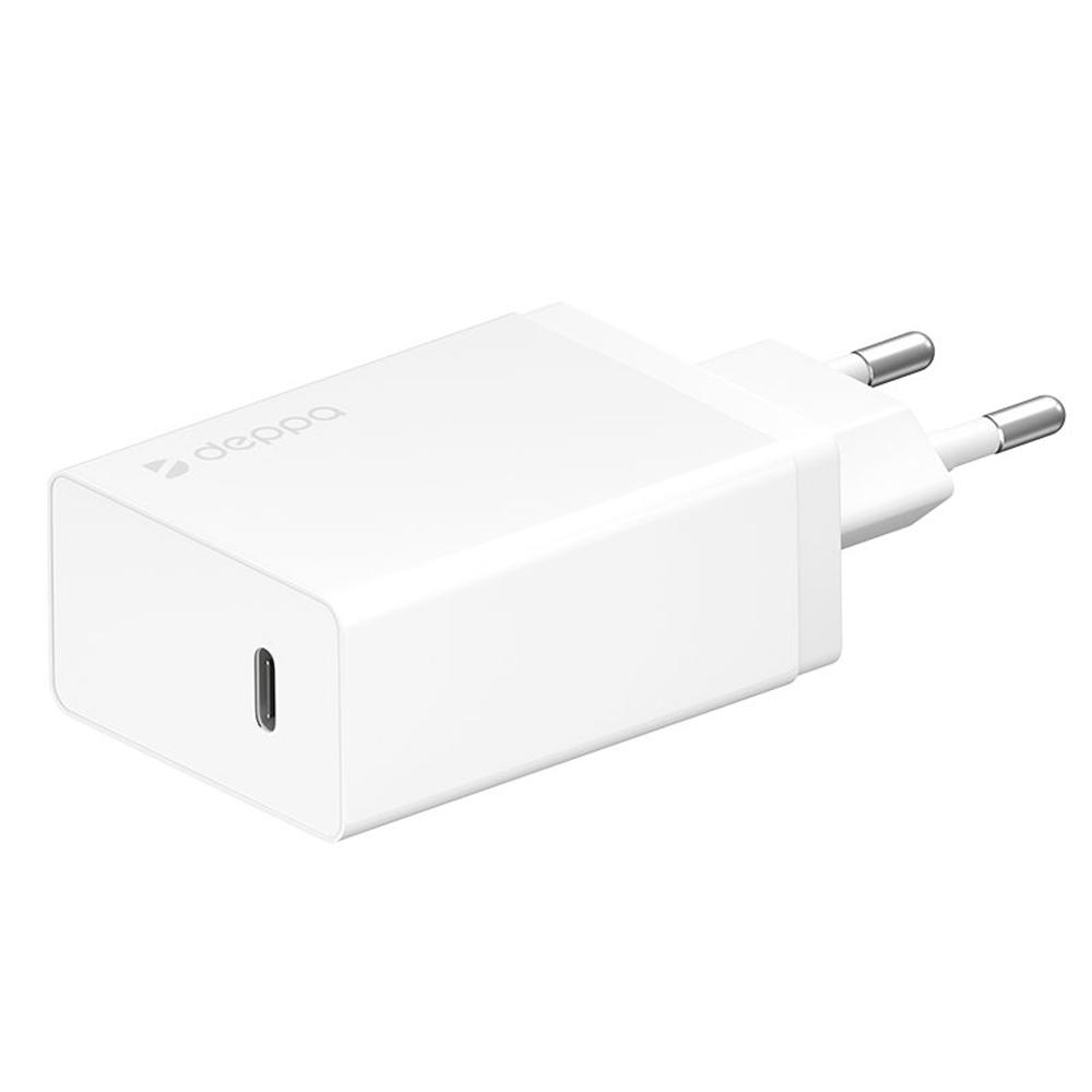 Сетевое зарядное устройство Deppa USB Type-C, Power Delivery 30Вт (белый)