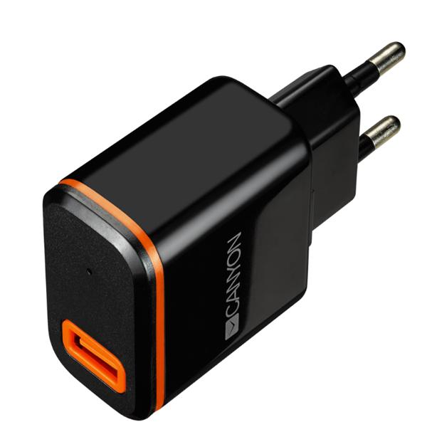 Сетевой адаптер с одним USB-портом Canyon CNE-CHA042BO