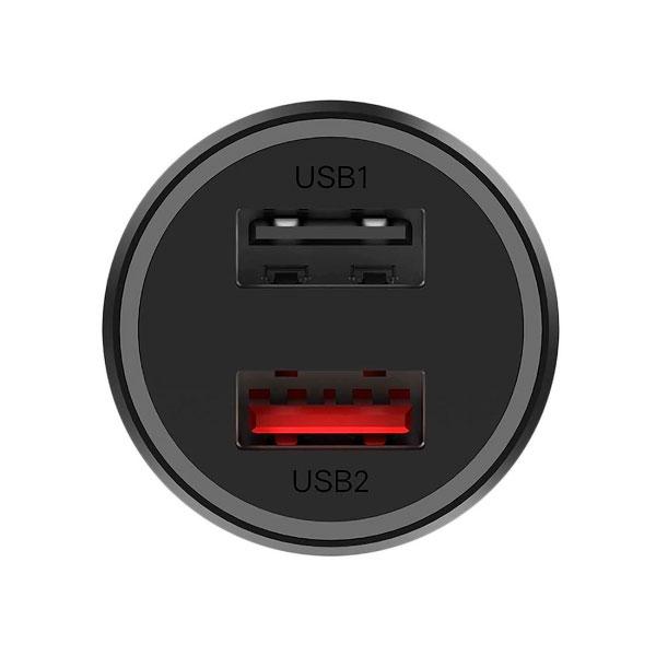 Автомобильное зарядное устройство Xiaomi Mi 37W Dual-Port Car Charger Black