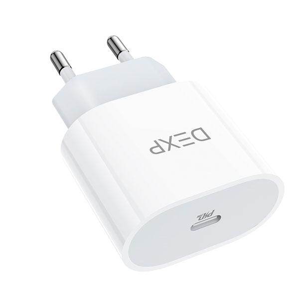 Сетевой адаптер Hoco DEXP DC23 20W PD charger (US/EU)