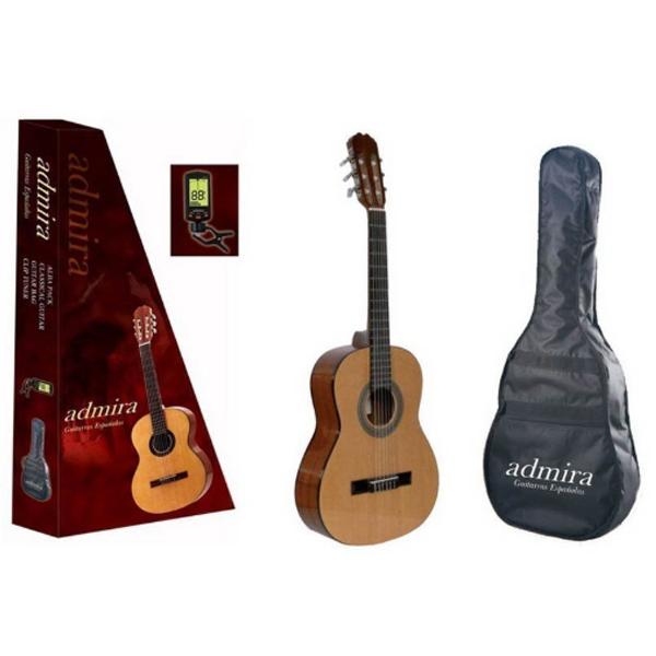 Классическая гитара в комплекте с чехлом и тюнером Adrmira Alba Pack