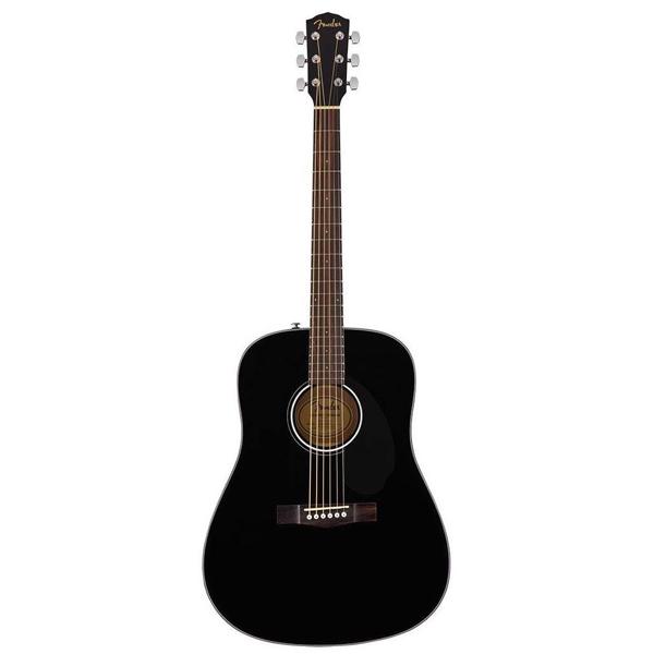 Акустическая гитара Fender CD-60S Dreadnought, BLACK WN