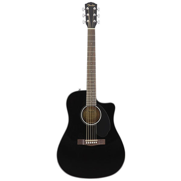 Электроакустическая гитара Fender CD-60SCE Drednougt Black
