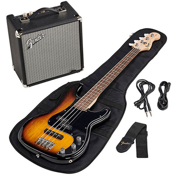 Комплект для обучения Squier Affinity Series™ Precision Bass® PJ Pack