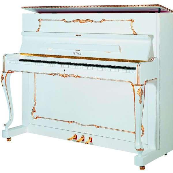Пианино PETROF P118R1 0002 WHITE MATTE