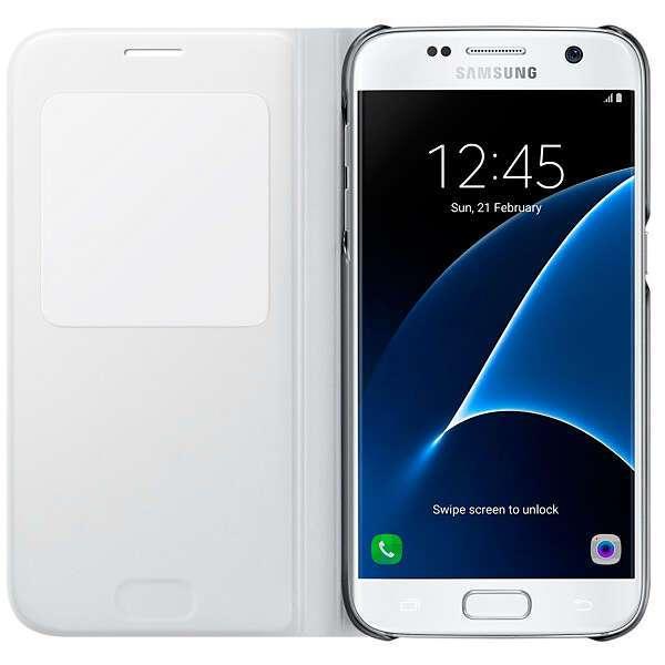 Чехол Samsung  S View Cover EF-CG930PWEGRU для Samsung Galaxy S7 (white)