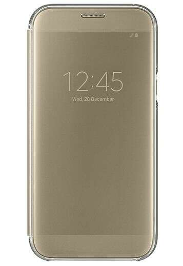 Чехол Samsung Clear View Cover для Galaxy A5 (2017), Gold EF-ZA520CFEGRU