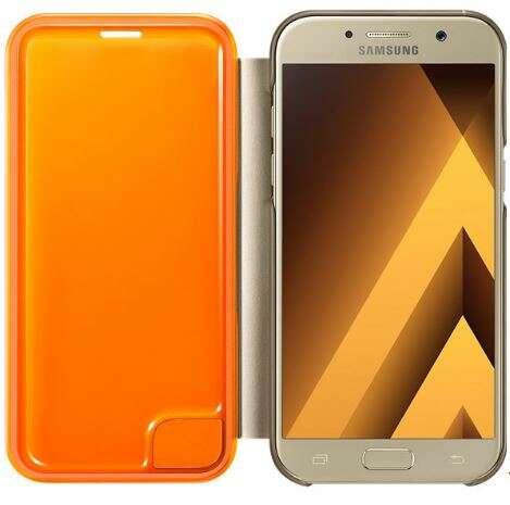 Чехол Samsung Neon Flip Cover EF-FA520PFEGRU для Galaxy A5 2017 Gold