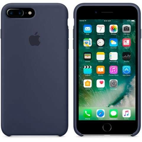 Чехол Apple для iPhone 7 Plus Silicone Case MMQU2, (темно синий)
