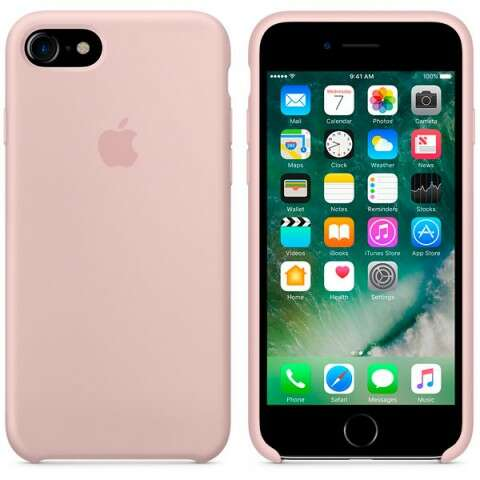 Чехол Apple для iPhone 7 Silicone MMX12 Pink