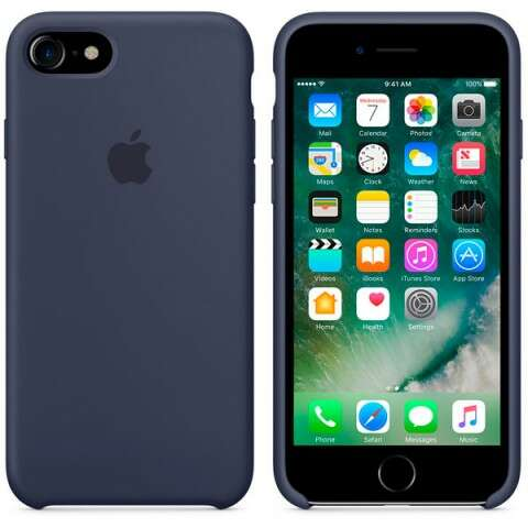 Чехол Apple для iPhone 7 Silicone MMWK2 Dark blue