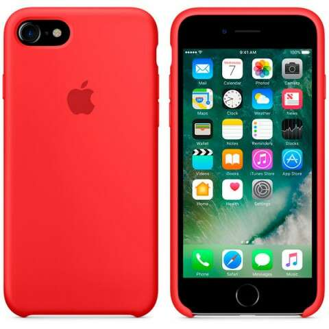 Чехол Apple для iPhone 7 Silicone MMWN2 Red