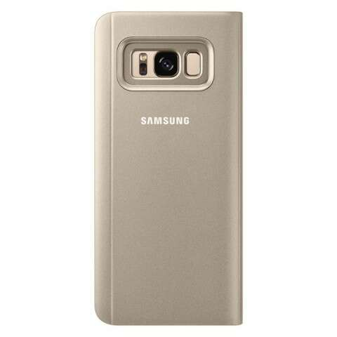 Чехол Samsung  Clear View Standing Cover для Samsung Galaxy S8+ EF-ZG955CFEGRU), Gold