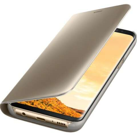 Чехол Samsung Clear View Standing Cover для Galaxy S8+ EF-ZG955CFEGRU Gold
