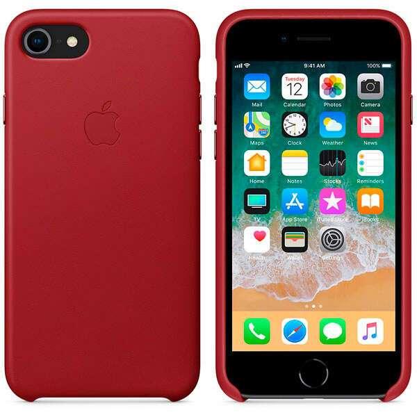 Чехол Apple для iPhone 8 Leather Case MQHA2, (красный)
