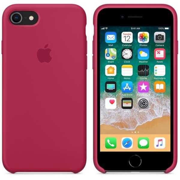 Чехол Apple для iPhone 8 / 7 Silicone Case MQGT2, (Rose Red)