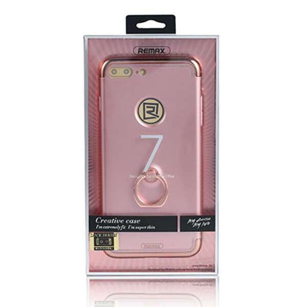 Чехол Remax  Lock Seies Case для iPhone 7/8 (With ring holder), розовый