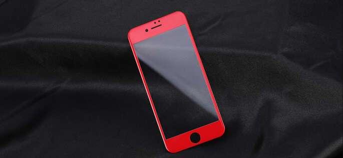 Защитное стекло Remax Gener Anti Blue-ray 3D Glass для iPhone 7/8 Red