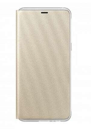 Чехол Samsung для Samsung Galaxy A8+ (EF-FA730PFEGRU)  Neon Flip Wallet, Золотистый